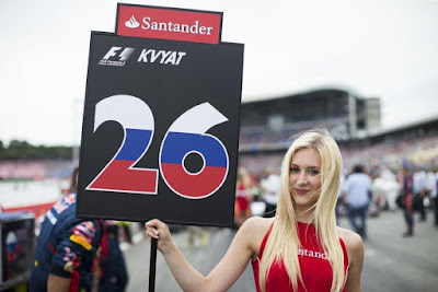 Grid girls of Formula One