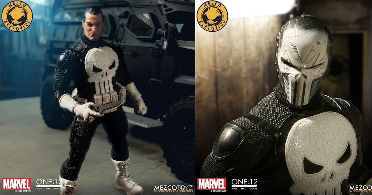 "UK Mezco Toyz One:12 The Punisher Frank Castle 6/"" Action Figure Statue Model Toy"