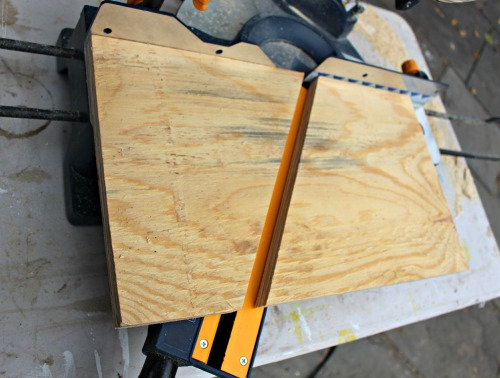 cut plywood at 30 degree miter