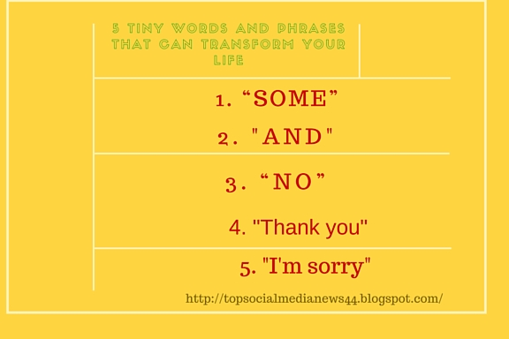 5 Tiny Words and Phrases that Can Transform Your Life