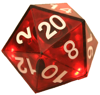 Thinkgeek Critical Hit LED D20 Die