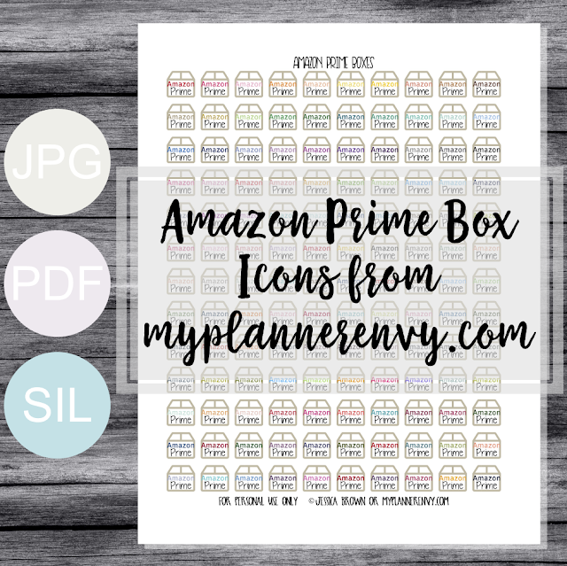 Free Printable Amazon Prime Box Icons from myplannerenvy.com