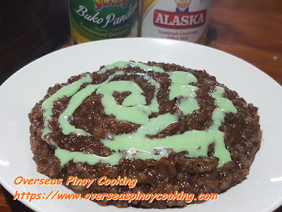 Champorado with Pinipig