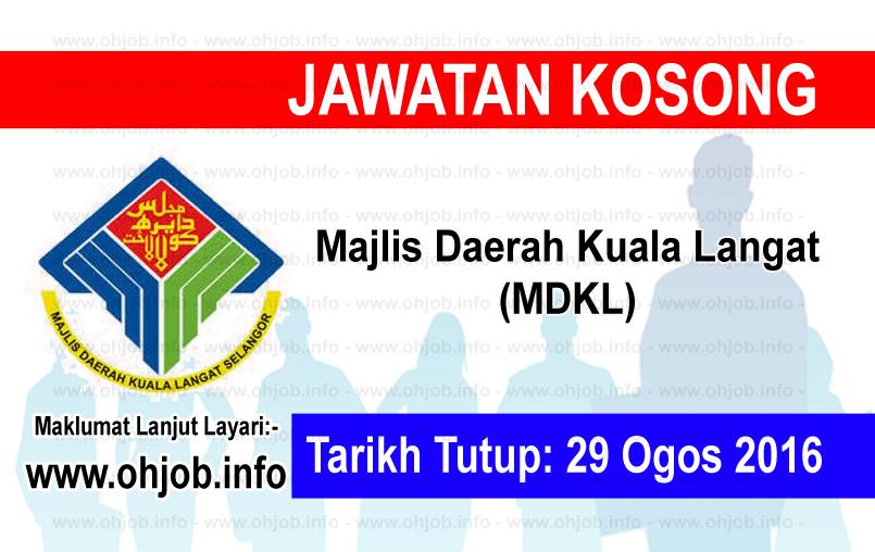 Jawatan Kerja Kosong Majlis Daerah Kuala Langat (MDKL) logo www.ohjob.info ogos 2016