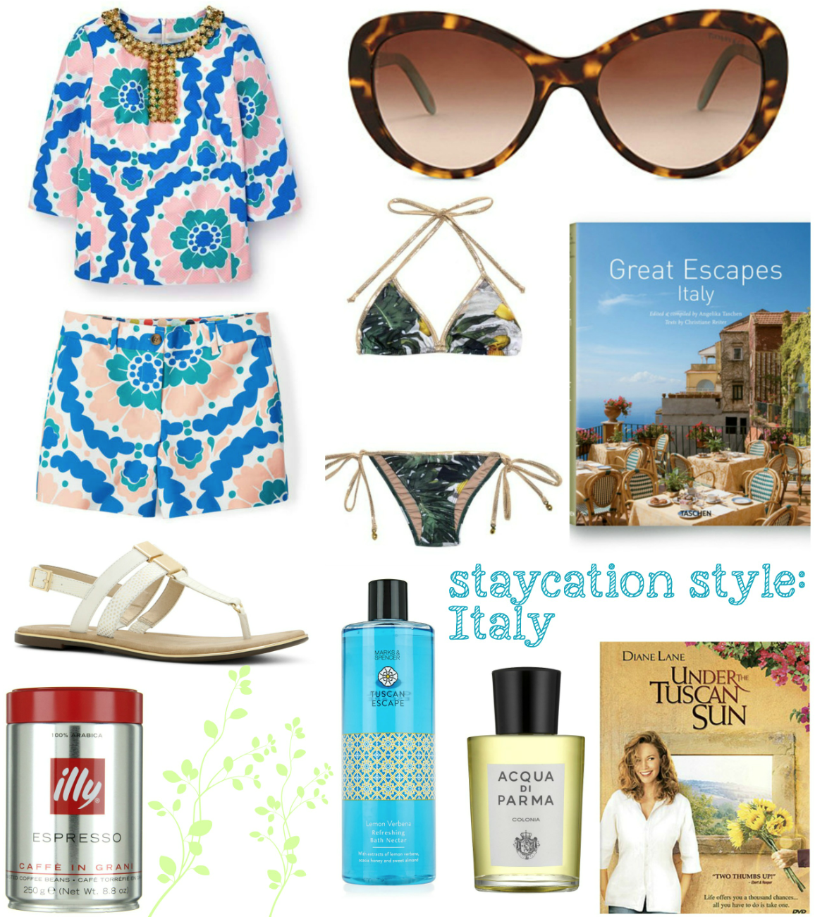 mamasVIB | V. I. BABYMAMAS: How to take a stylish holiday …at HOME! Part 2 | holiday at home | stay cation | holiday style | holiday fashion | shopping | fashion | holiday | vacation | illy coffee | italy | italian holiday | italian style | italy fashion | mamasvib | lemon print bikini | boden | boden kaftan | capri | stylish | tuscan holiday | under the tuscan sun | sandals | styleih | italy | aqua de parma | great escape italy | books | holiday books | holiday style | stay at home holiday | faction  at home | sunglasses | oversized sunglasses | marks and spencer | boden summer | amara