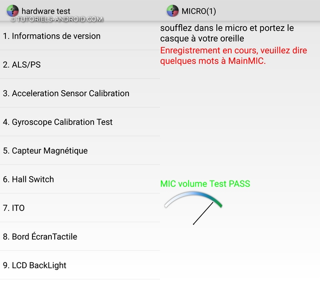 Code Hardware test - Xiaomi Mobiles