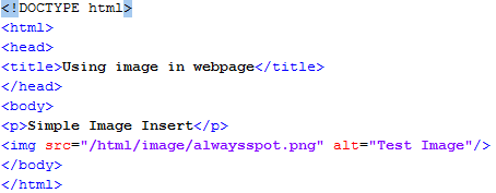 HTML Set Image Location