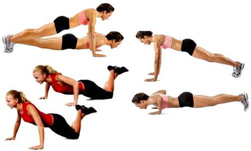 Prone arm push-ups.