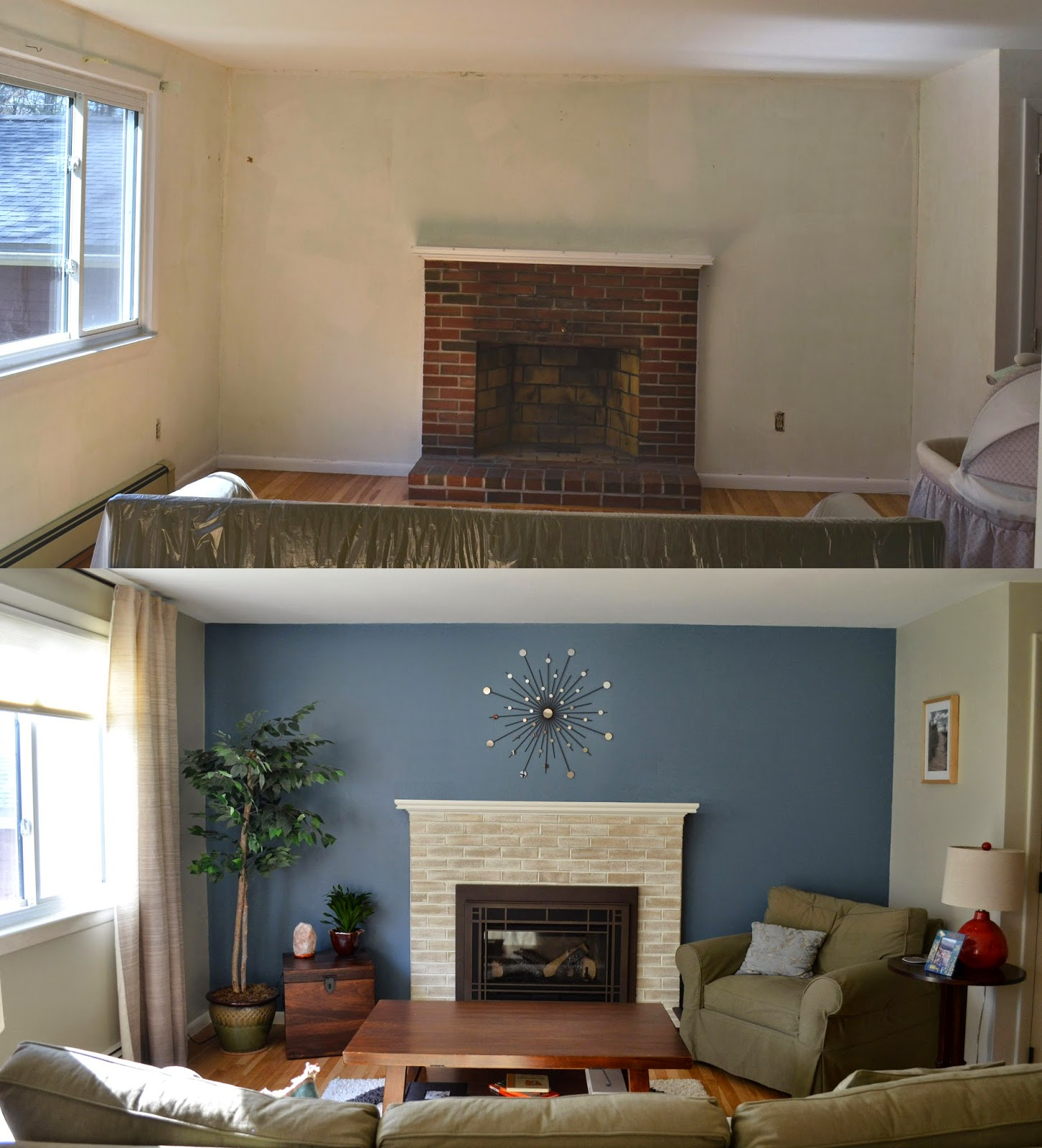 Cinnabar Benjamin Moore Accent Wall: WEAFER DESIGN: Before And After, Living Room And Dining
