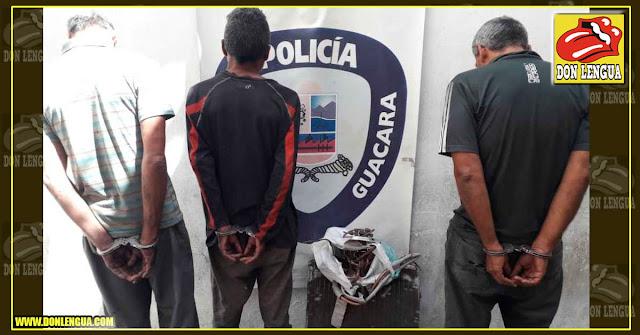 Detenidos por robar tuberías de cobre de un colegio en Guacara
