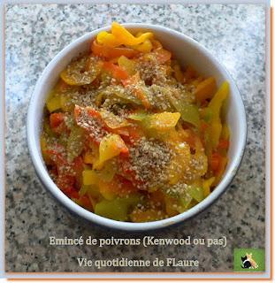Vie quotidienne de FLaure : Émincé de poivrons (Kenwood)
