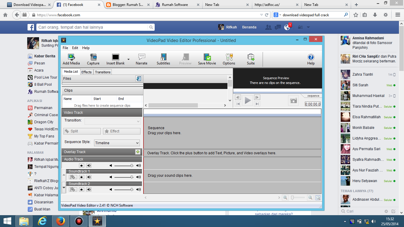 Download Videopad Video Editor Professional 2.41 Full ...