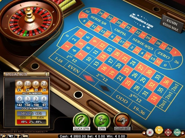 CasinoEuro Roulette Screen