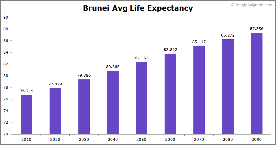 Brunei  Avg Life Expectancy
