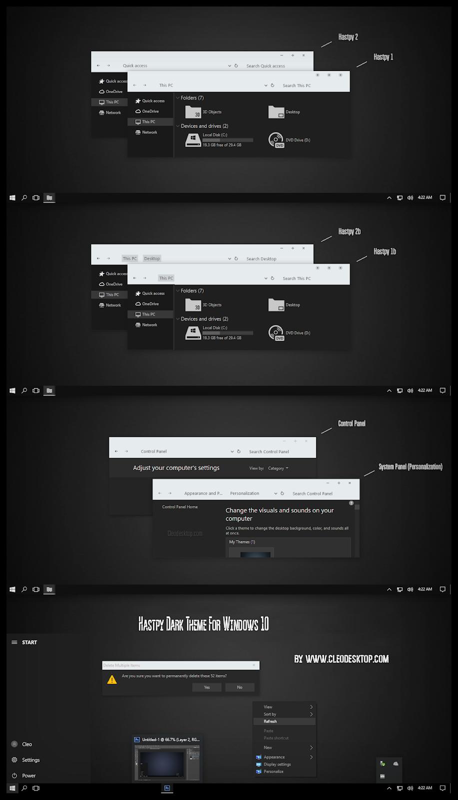 Hastpy Dark White Theme Windows10 November 2019 Update 1909