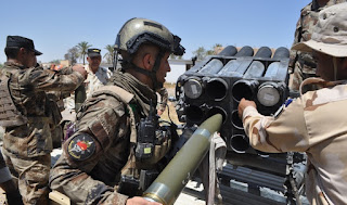 مقتل عشرات من قيادات داعش بقصف صاروخي نفذه الجيش العراقي  استهدف اجتماعاً لهم قرب القائم في الأنبار
