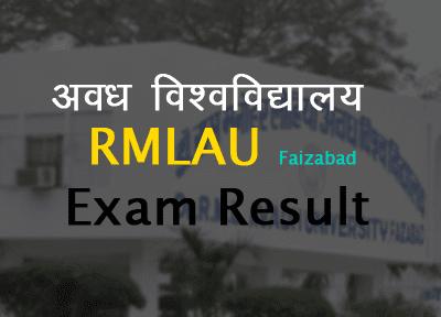 avadh university result 2019 rmlau exam result rmlau.ac.in