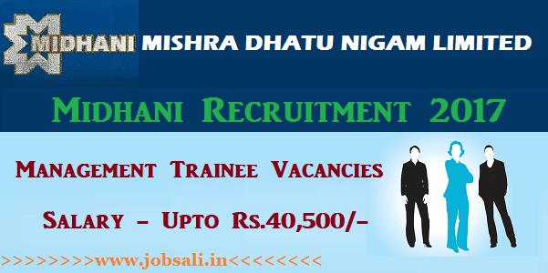 Midhani careers, Midhani jobs, Midhani Management Trainee jobs