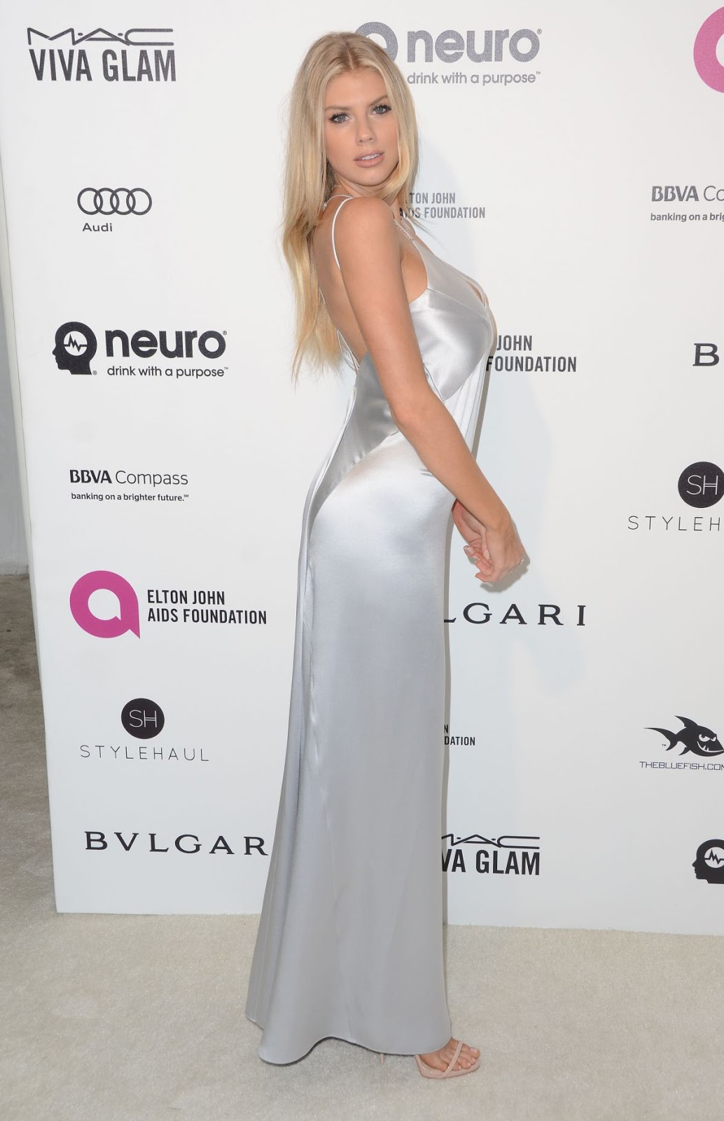 The Late Bloomer actress Charlotte Mckinney at Elton John Aids Foundation's Oscar Viewing Party 2016