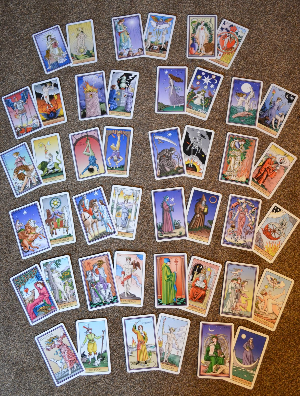 Tarot Of The Sevenfold Mystery + Comparison With The
