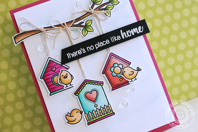 Sunny Studio Stamps: A Bird's Life No Place Like Home Card by Eloise Blue