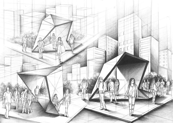 08-Bus-Stop-Marlena-Kostrzewska-Interior-Design-and-Architecture-in-Pencil-Drawings-www-designstack-co