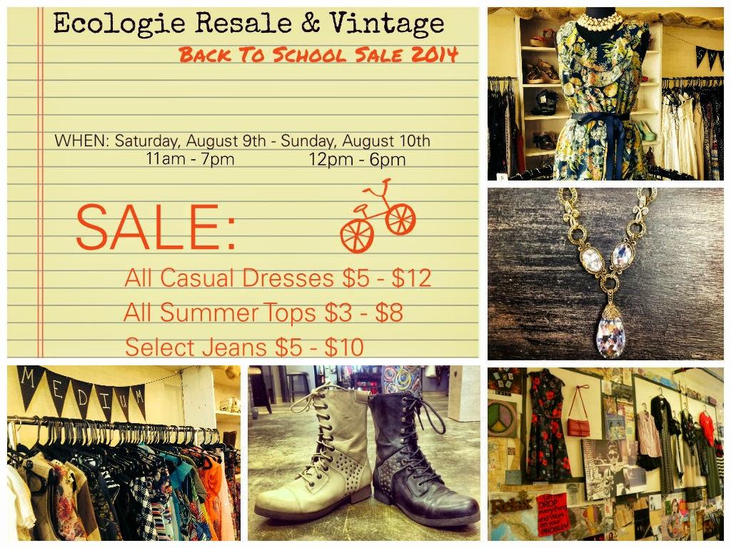 Back To School Sale At Ecologie Resale And Vintage Atlanta