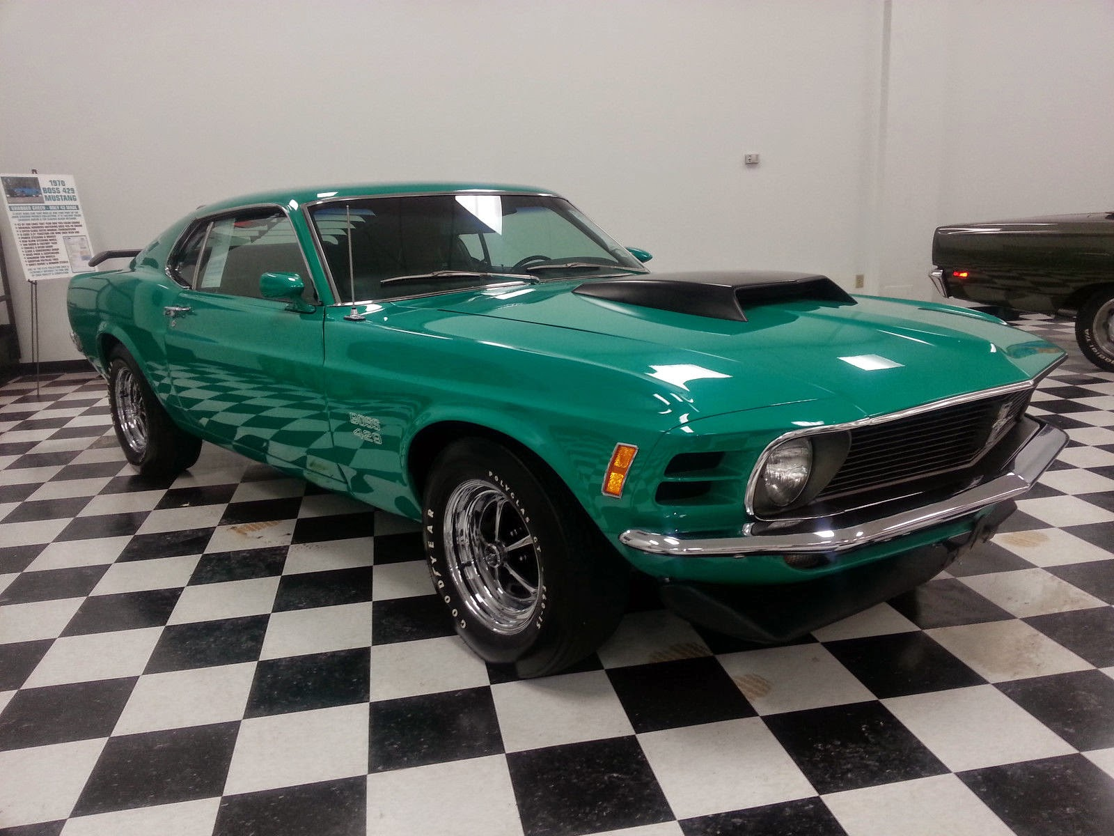 For Sale American Muscle Cars 1969 Ford Mustang Msrp Rare 1970 Boss 429 Grabber Green