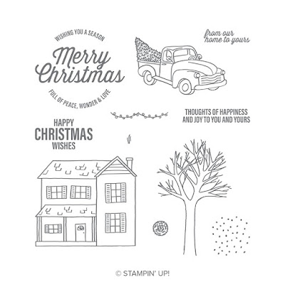 Know anyone in the country? Make them a country themed Christmas card using the Farmhouse Christmas Stamp set. See it here - http://bit.ly/2Ow9R2V