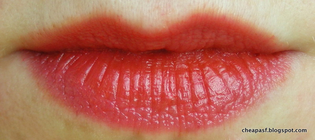 Wet N Wild MegaSlicks Balm Stain in Coral of the Story layered over Peripera Peri's Tint Water in Mandarin #4
