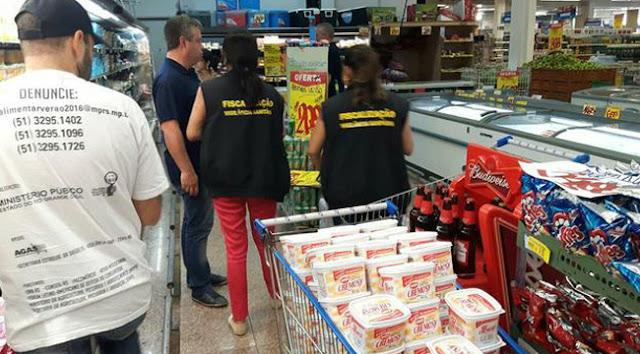 Força Tarefa do MP apreende 11 toneladas de alimentos impróprios em supermercados