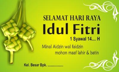 Kartu Ucapan Idul Fitri unik dan menarik