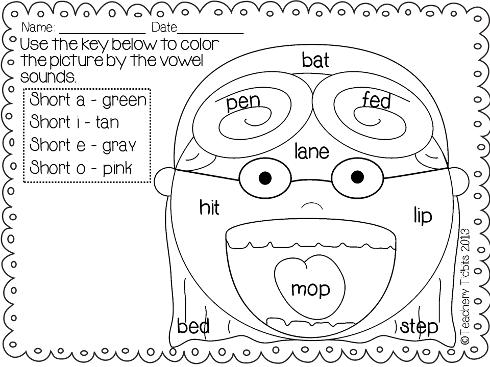 vowel coloring pages - photo#26