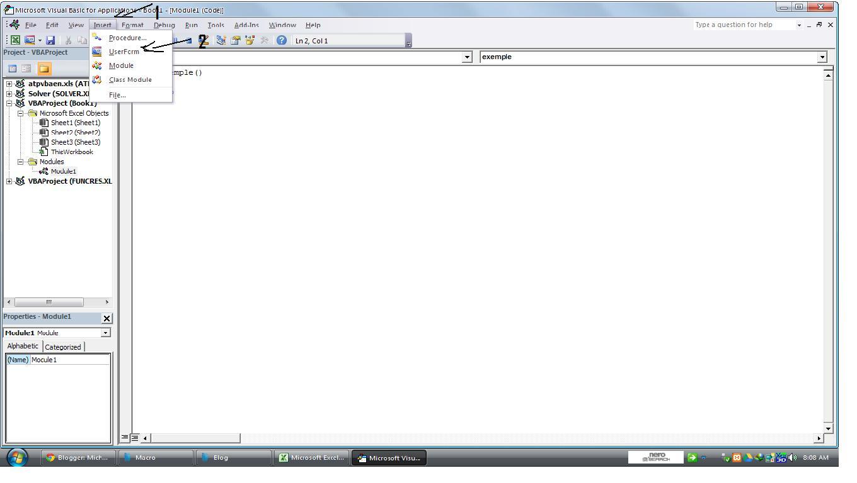 Michael11 Cara Buat Insert Form Di Excel Dengan Vba