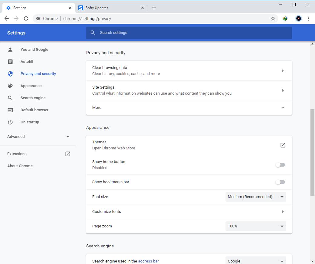 Google Chrome Browser 83.0.4103.106
