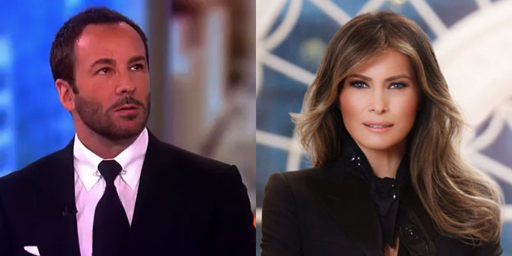 "Twitter lost its mind this morning when a quote attributed to fashion designer Tom Ford began to circulate wherein he reportedly referred to First Lady Melania Trump as a ""glorified escort.""  Slow your roll, Twitter - Tom Terrific never threw that shade."