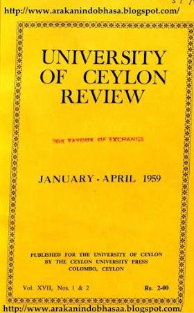 The Rakkhanga -Sannas - Curnikava and the Date of the Arrival of Arakanese Monks in Ceylon
