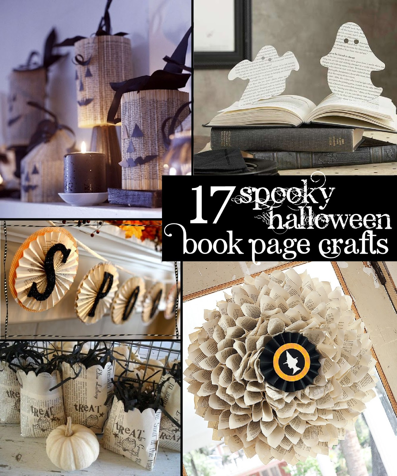 Spooky Halloween Book Page Crafts