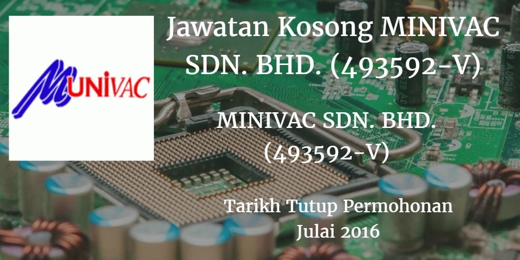 Jawatan Kosong MINIVAC SDN. BHD Julai 2016
