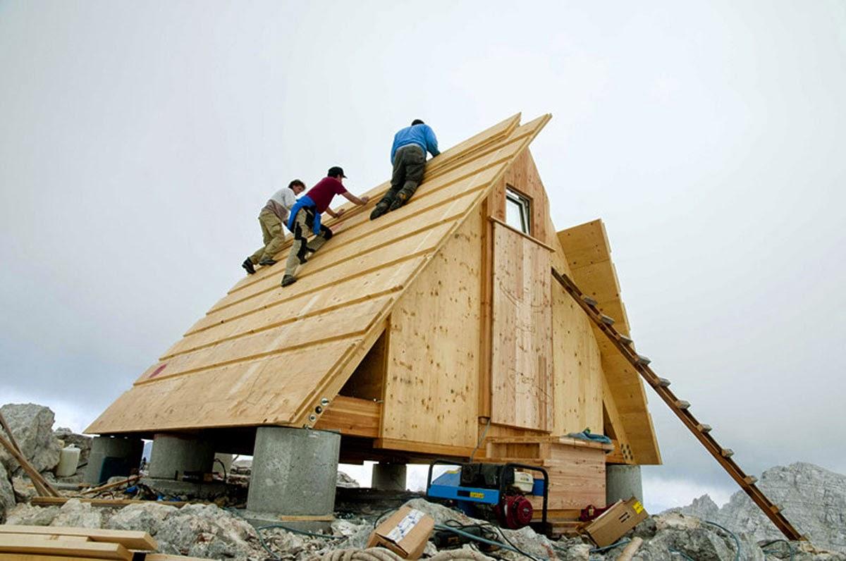 بناء المنزل الجبلي