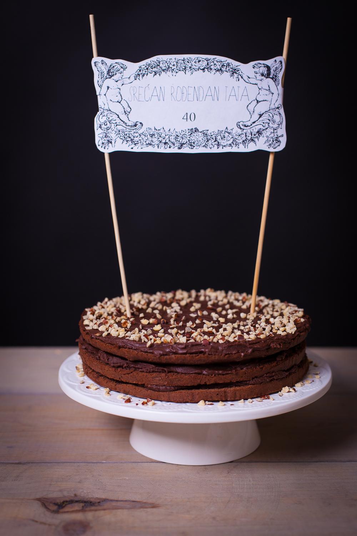 Dolce Fooda Birthday Nutella Cake