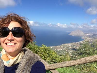 Vista do alto de Erice, 751m sobre a planície de Trapani