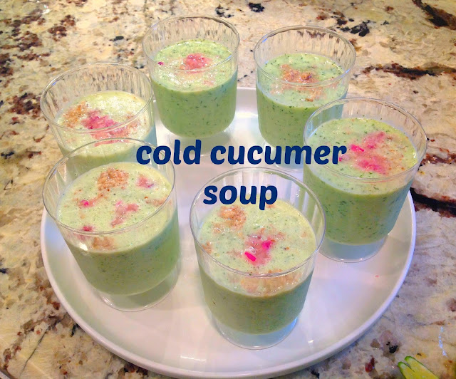 small glass of cucumber soup