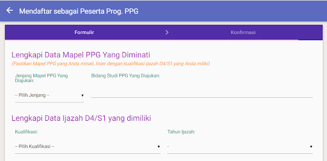 formulir daftar program ppg di sim pkb