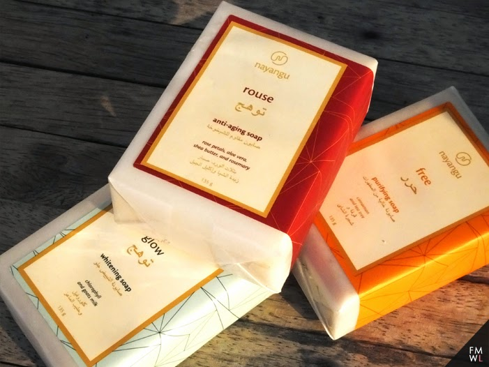 Rouse, Glow and Free beauty soaps