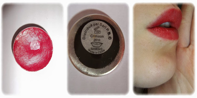 Swatch Recharge Rouge à Lèvres - elf - Teinte Crimson