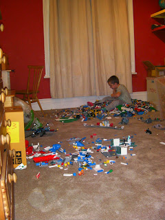 lego collection in carpeted room