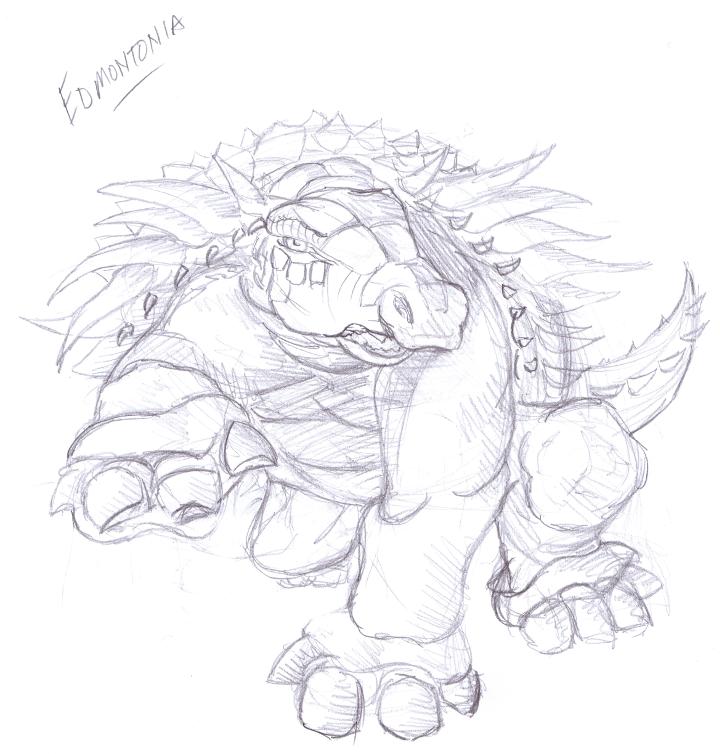 Del Teigeler's Art Blog: Dinosaur: Edmontonia