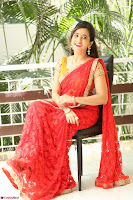 Lasya Cute Beauty in Saree Backless Choli at her Interview ~  Exclusive 039.JPG
