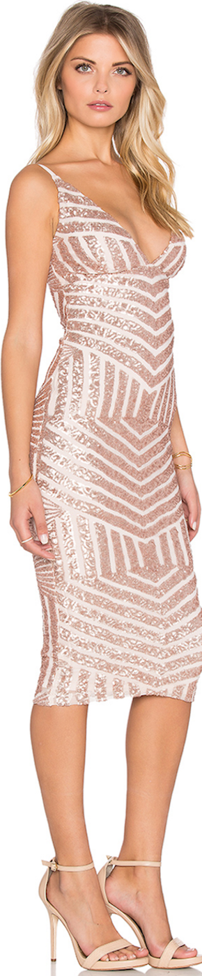 Nookie Starstruck Sequin Slip Cocktail Dress